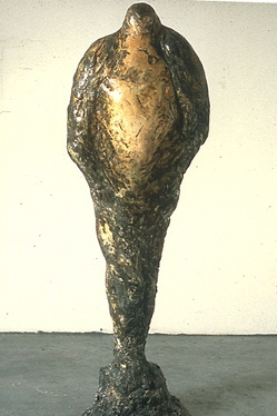 """Horus,"" 1989 Mixed media 66 x 25 x 10 inches"