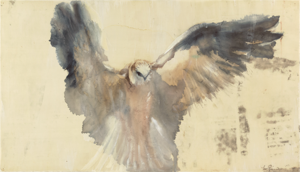 """White Kite,"" 2013 Archival pigment print on German etching paper 16 x 28 inches, Edition of 20"