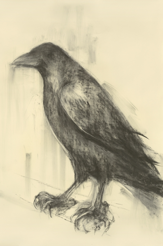 """Mama Raven,"" 2012 Archival pigment print on clay ground on German etching paper 52 x 42 inches"