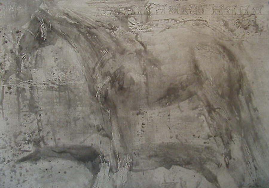"""Grey Spit Bite,"" 2003 Etching and lithography 31.5"" x 45"""