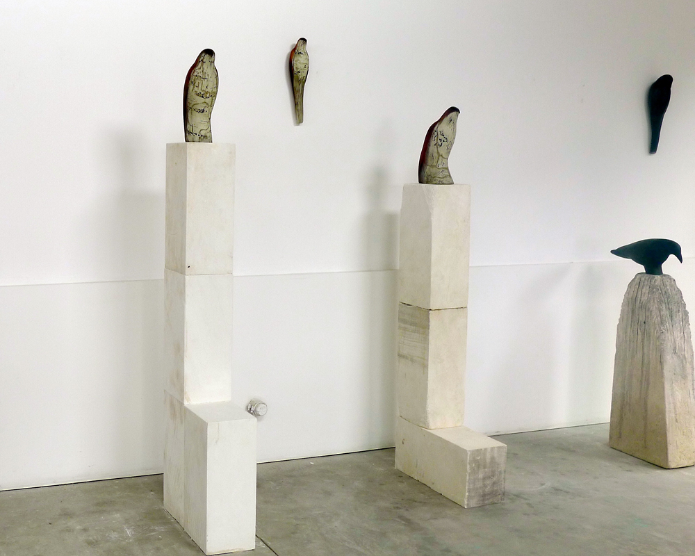 Studio Installation with Brancusi Birds, 2013