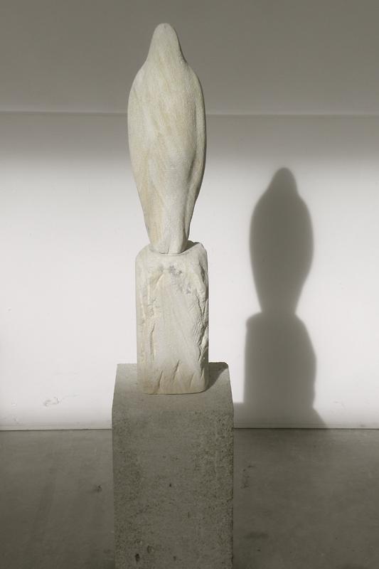 """""""Brancusi Bird Stone,"""" 2011 Provencal limestone 48 x 10 x 10 inches"""