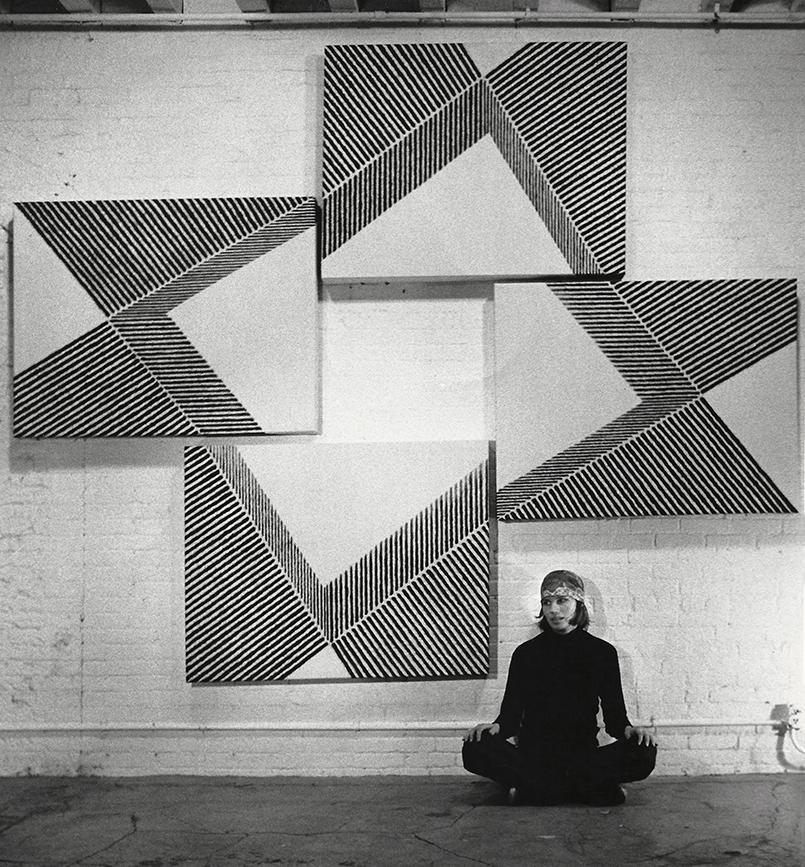 Joan Witek in her Duane Street Loft, NYC, 1974