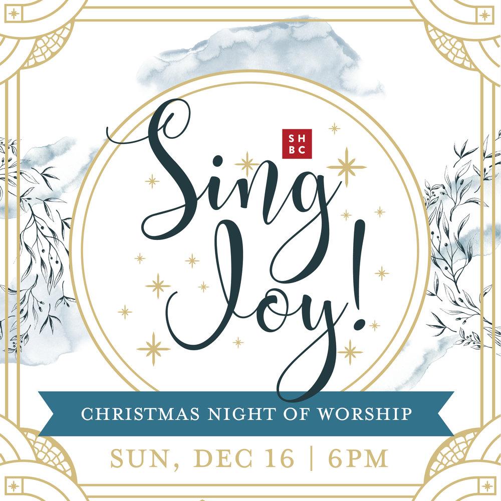 Sing Joy! Christmas Night of Worship — Shirley Hills