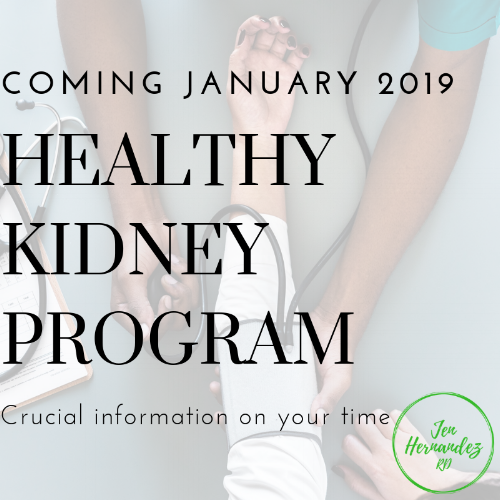 Prevent kidney disease! - Join my 6-week program to learn all the nutrition tricks and habits to prevent your kidneys from failing. Use code KIDNEYHEALTH19 at checkout for 37% off!