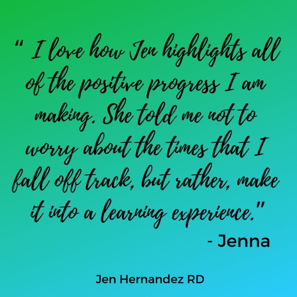 Jenna's been using meal plans and learning along the way! Trying new recipes, discovering the difference between being hungry and being bored, and eating more fruits and vegetables than ever before!