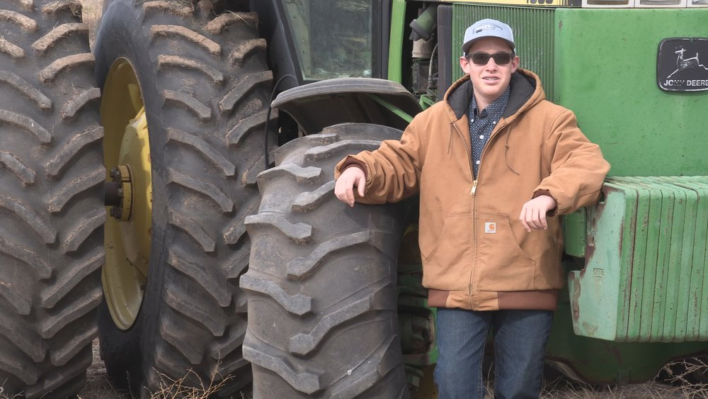 Wyatt Merry is shown on his family's farm in the Oklahoma Panhandle.