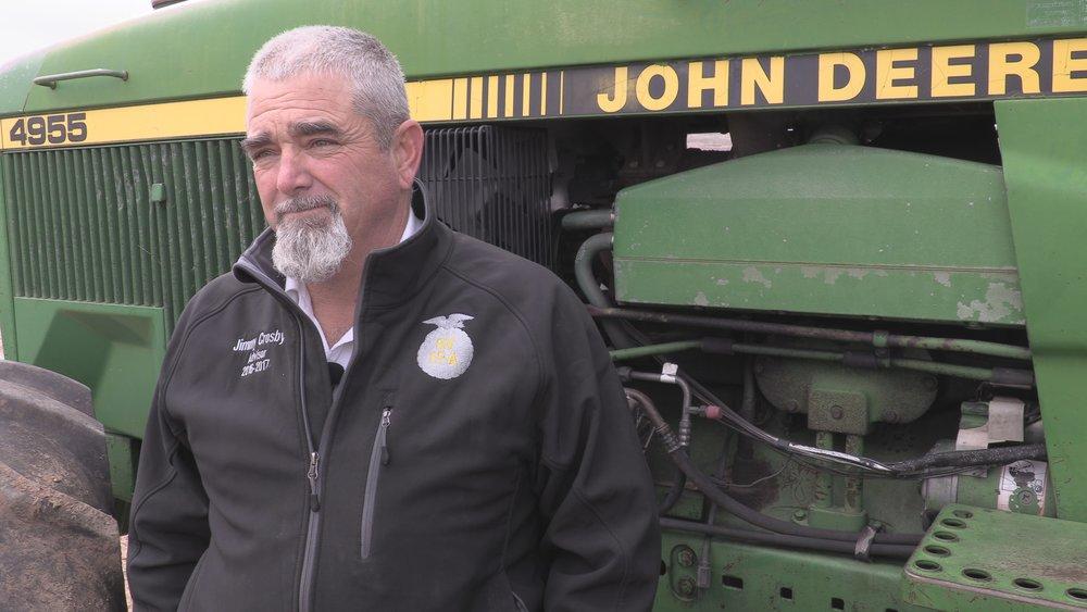 Jimmy Crosby, Wyatt Merry's ag teacher and FFA advisor