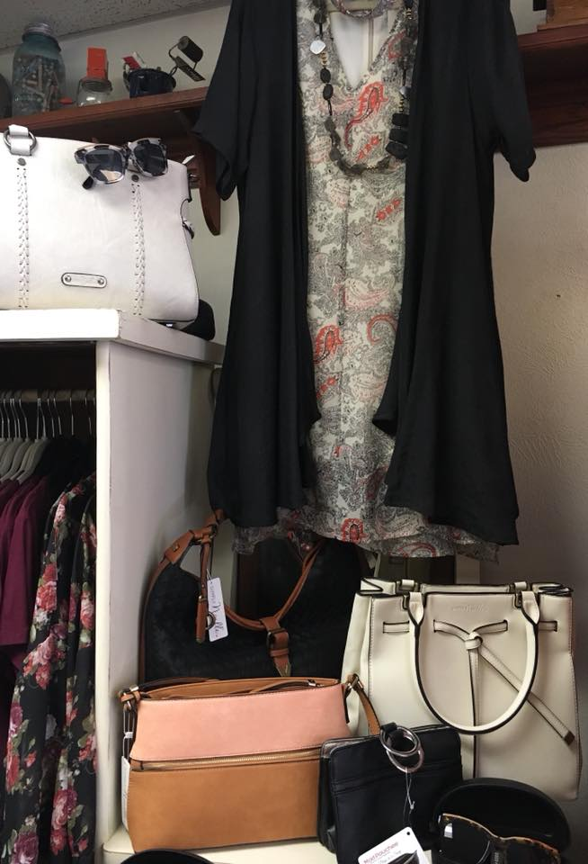 Noelle paisley dress with black C and C cardi over it April 2018.jpg