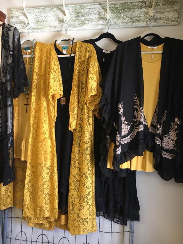 Gold  Lace Duster with black dresses April 2018.jpg