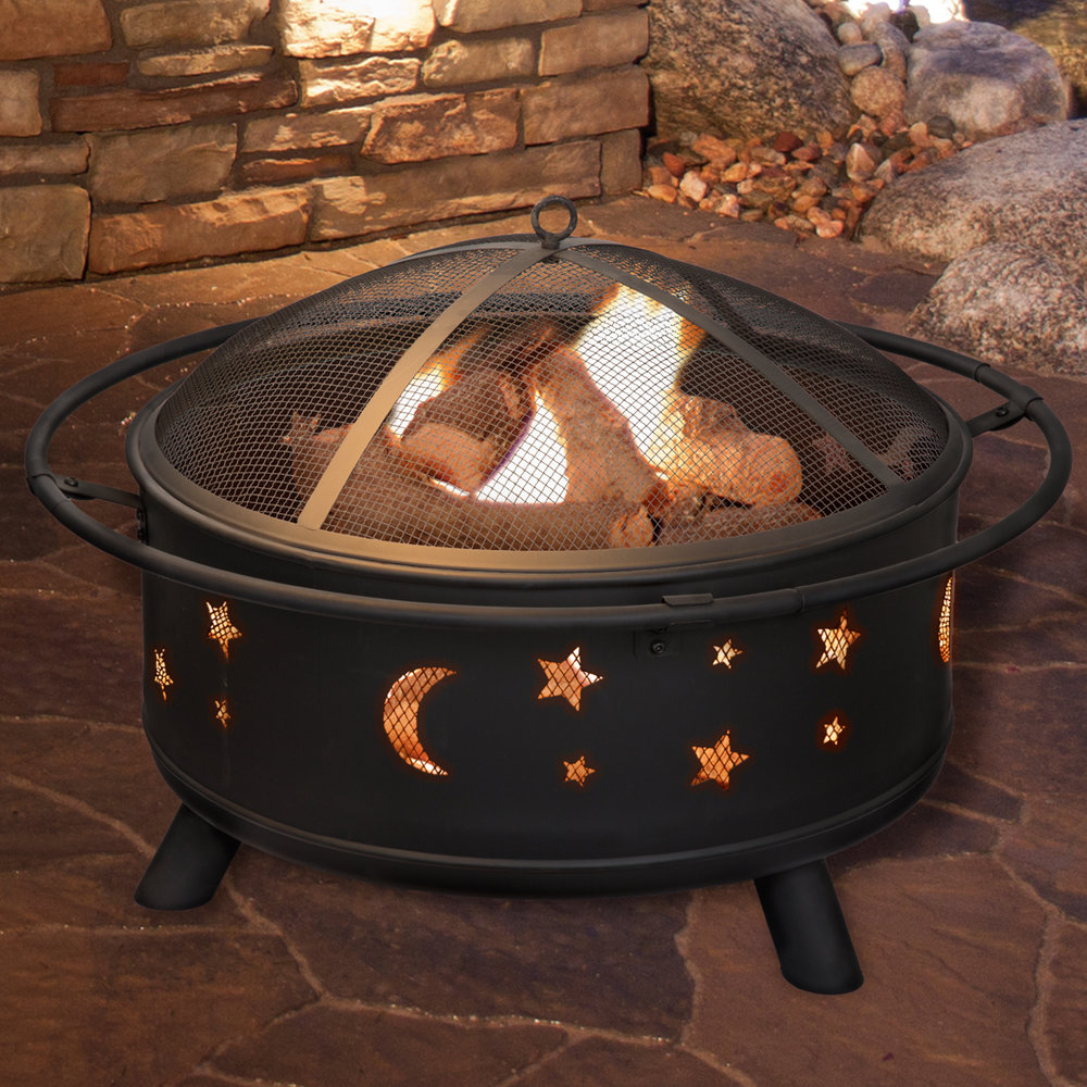 """30"""" Stars and Moon Fire Pit"""