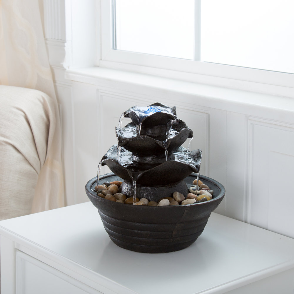 Lighted 3 Tier Rock Fountain