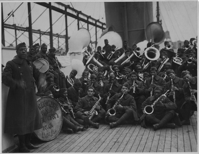- Join us this week on an all new journey following the 369th infantry regiment of the US Army. Hear the incredible story of bravery and valor. And learn how one man introduced American Jazz to Europe with his Harlem Fighters!