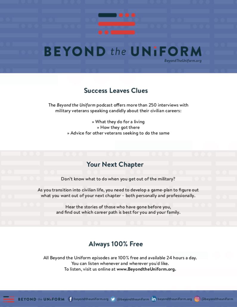 download beyond the uniform promotion flyer