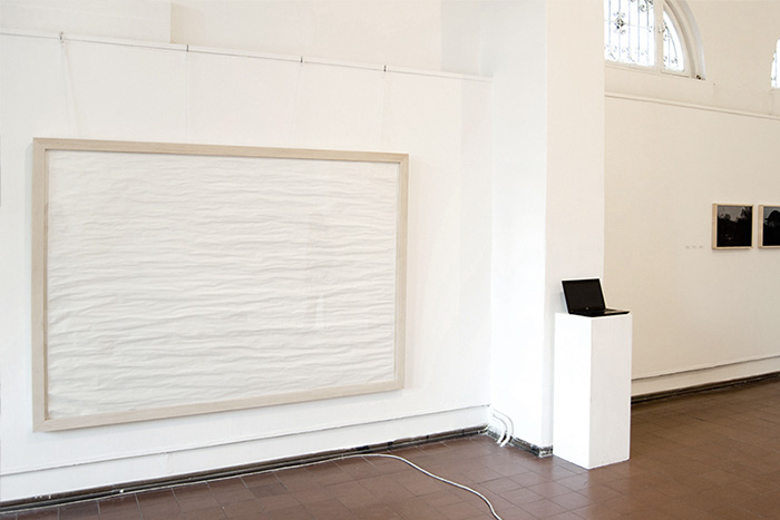 White (Resonances - exhibition view) , Paper, 1.8 x 1.5 m, 2011.