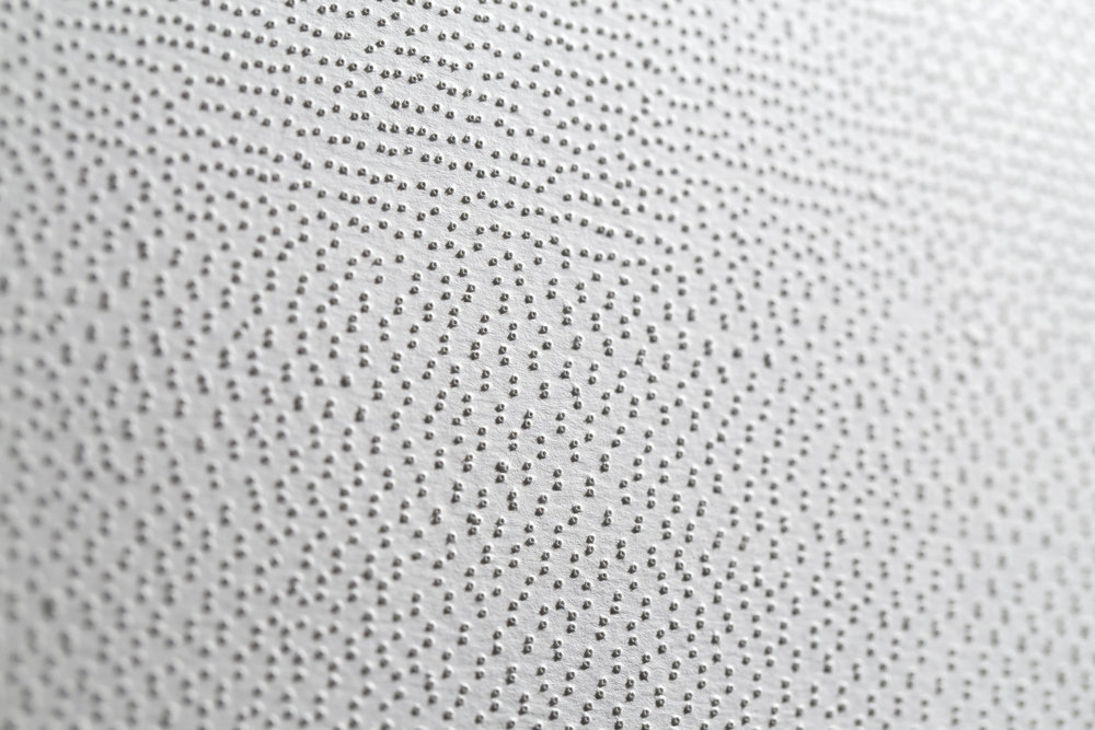 10.46 (detail) , Perforated paper, 1.5 x 1.5 m, 2015.
