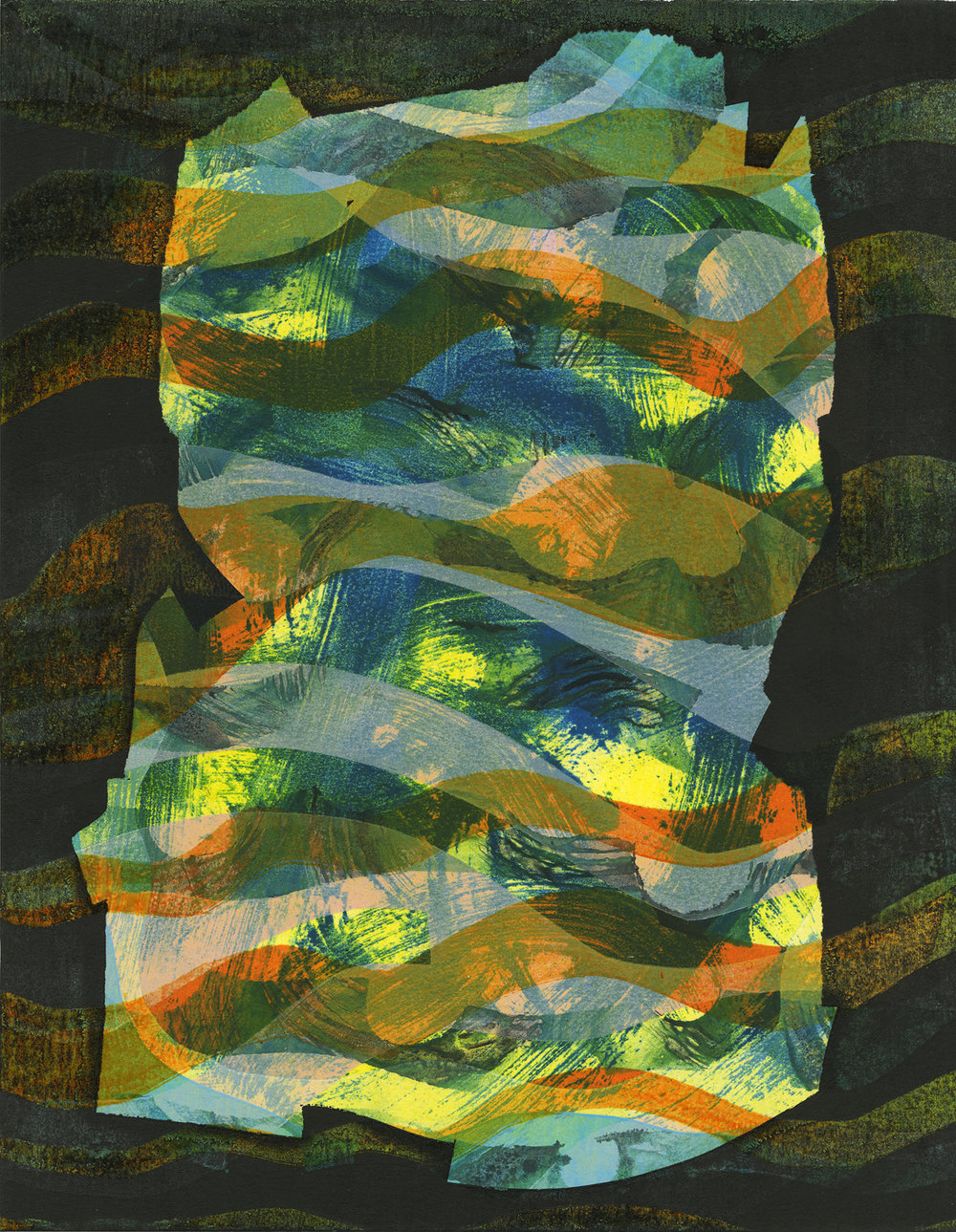 Untitled , 2018, Monotype on Lenox 100 paper, 14 x 10 inches; 36 x 25 centimeters, Edition of 1