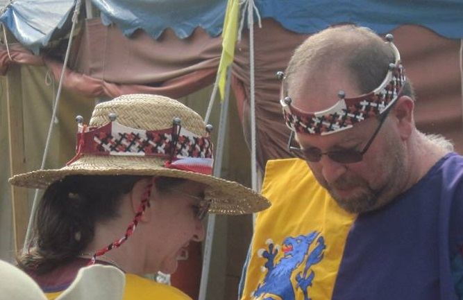 Baron Mors & Baroness Esperanza   Leather coronets made for Baron Mors and Baroness Esperanza during their rein over Stierbach