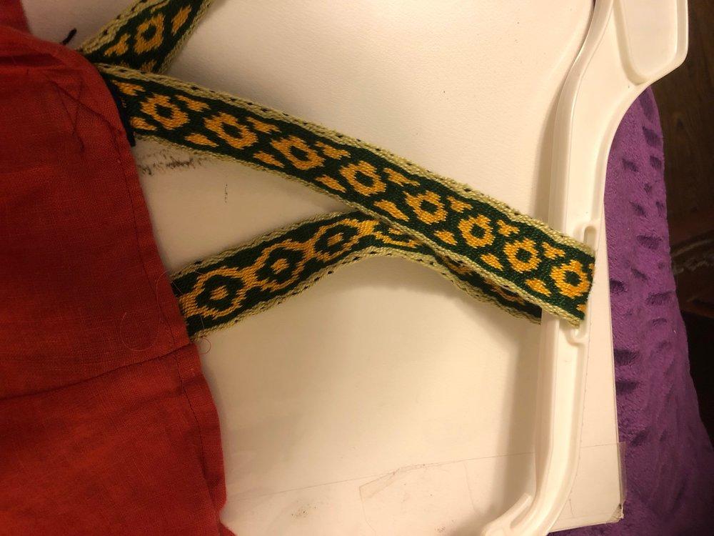 Woven Apron Dress Straps
