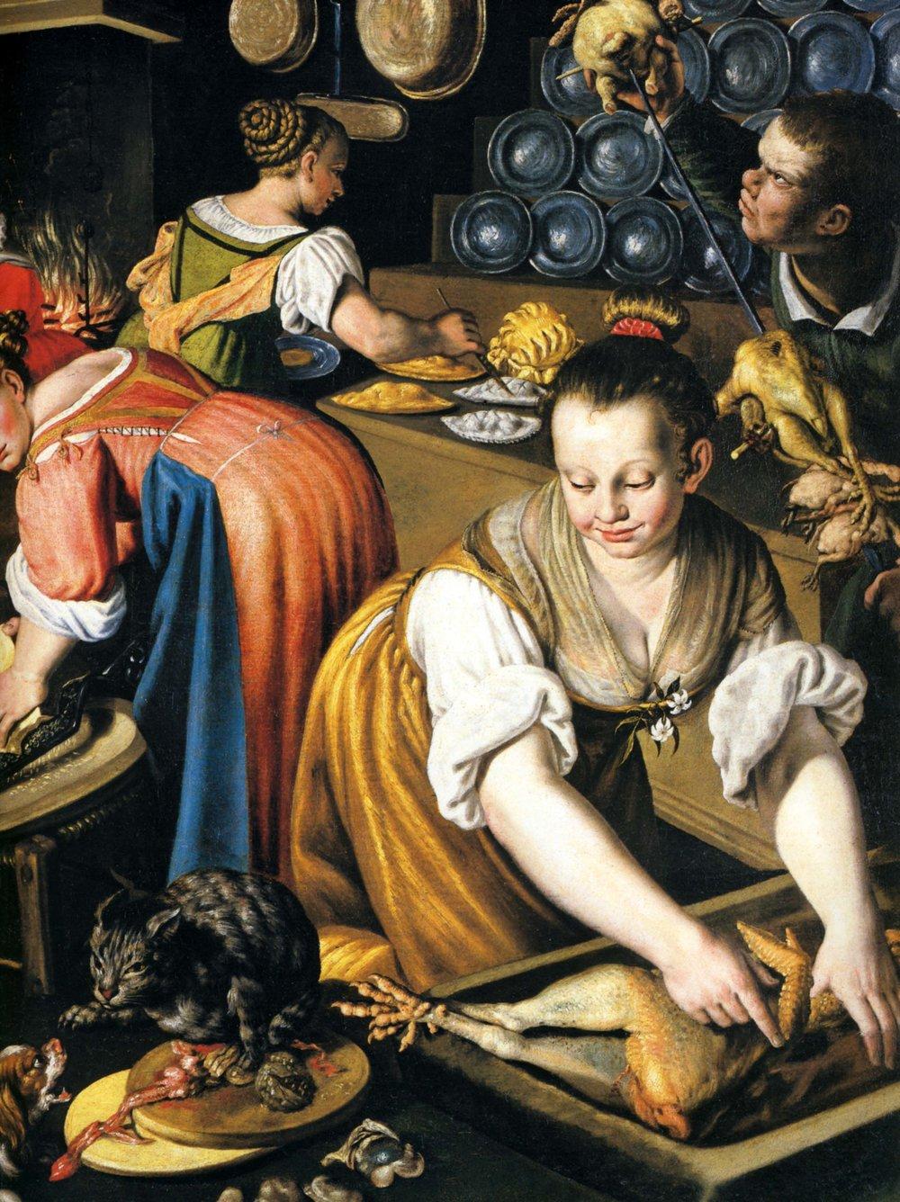 1600 vincenzo campi, la cuisine, détail droit