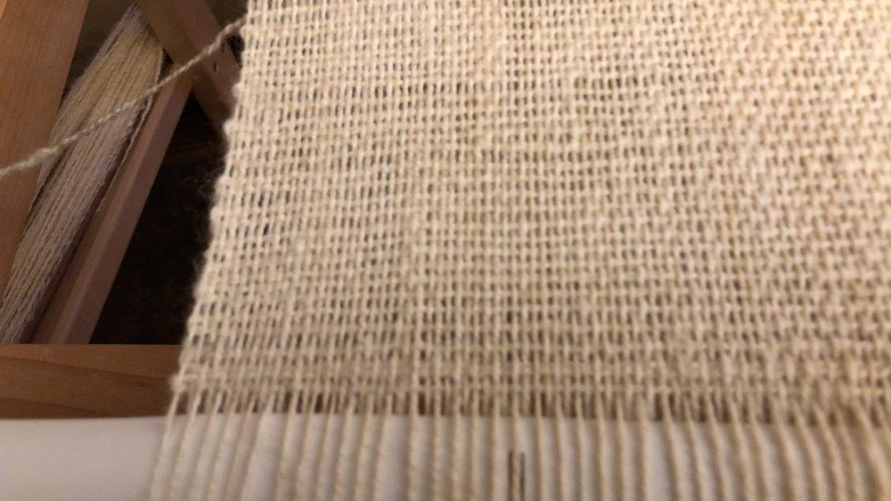 Hand Spun & Hand Woven Hood