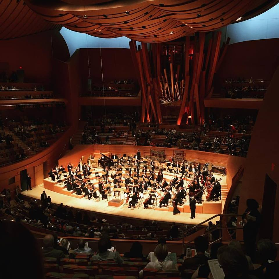 with the LA Phil, 2016