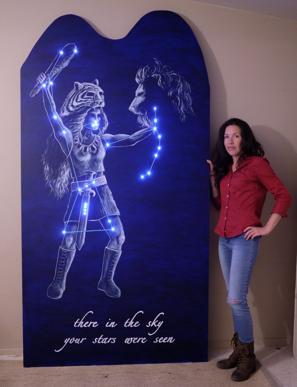 Astronomer & Artist Stéphanie Juneau with her work for the Exist Project