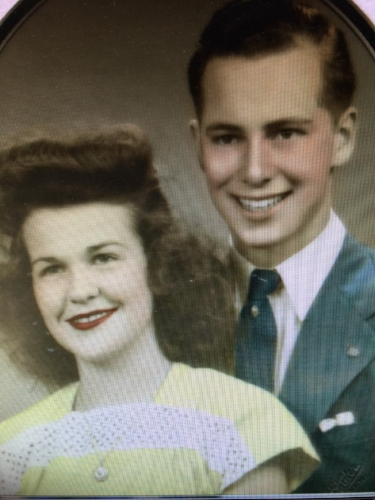 Martha & Pat Rutherford, Married August 18, 1944  She – 13 years old. He – 17 years old.