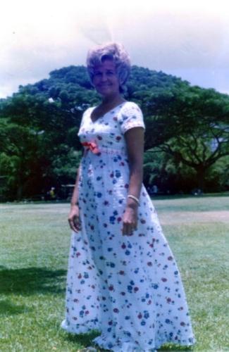 Martha Rutherford in Hawaii 1977