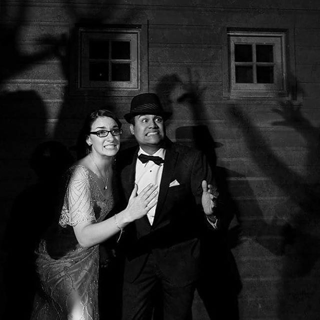 When your bride and groom get married on Halloween, you know it will make for some epic photos! Awesomeness provided by @brianslawsonphotography.