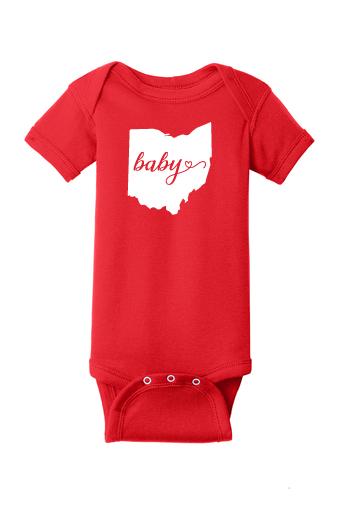 9f88cfd9b Ohio Baby Onesie - Red (RS4400) — Rylon Printing
