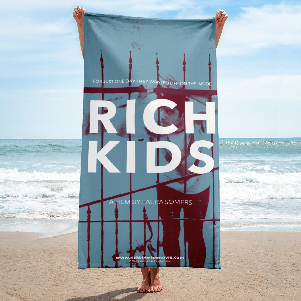 FLASH GIVEAWAY - Click here for a chance to win a limited edition RICH KIDS BEACH TOWEL!Giveaway ends AUGUST 31st!