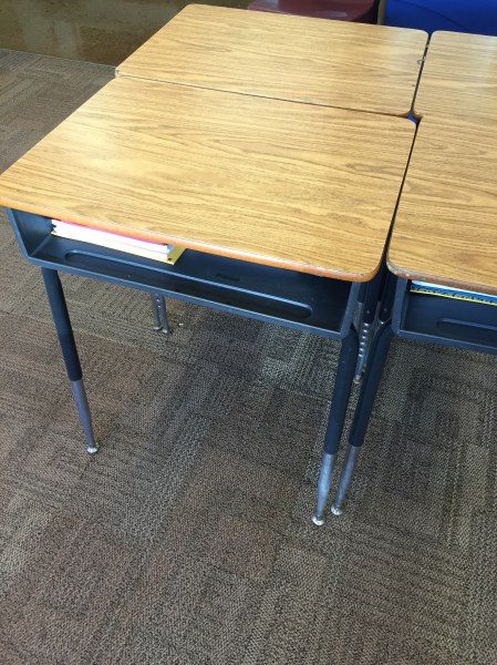 Desks in the classroom