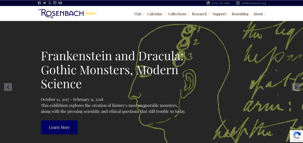 Featured Project: rosenbach.org - We upgraded The Rosenbach's website to make it as prestigeous online as the organization is in real life.