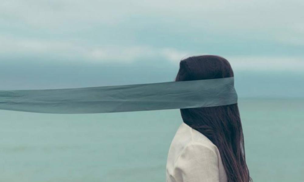 Blindfolded yoga