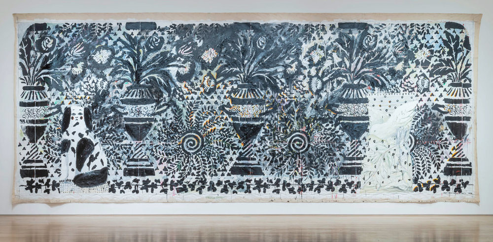 "Robert Zakanitch ""Big Bungalow Suite IV,"" 1992-93, Acrylic on canvas, 11 x 30 ft, Collection of the Artist. Photo: E. G. Schempf for The Nerman Museum"