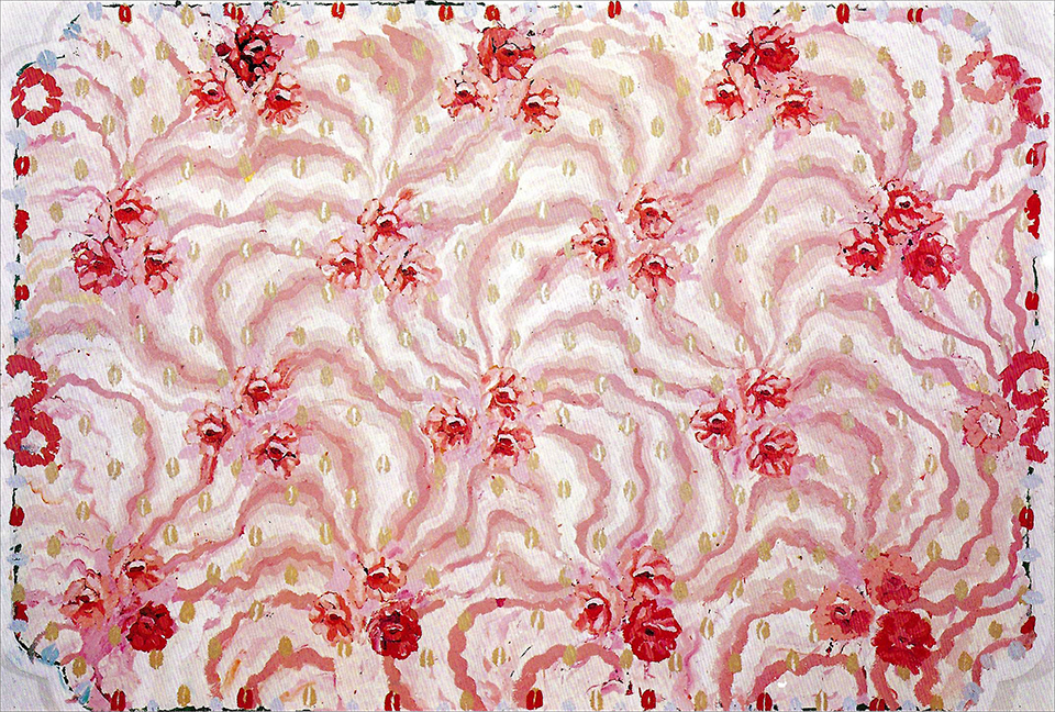Robert Zakanitch,  Elephant rose,  1977-78, Acrylic on canvas, 97 x 139 in. (246 x 353 cm)