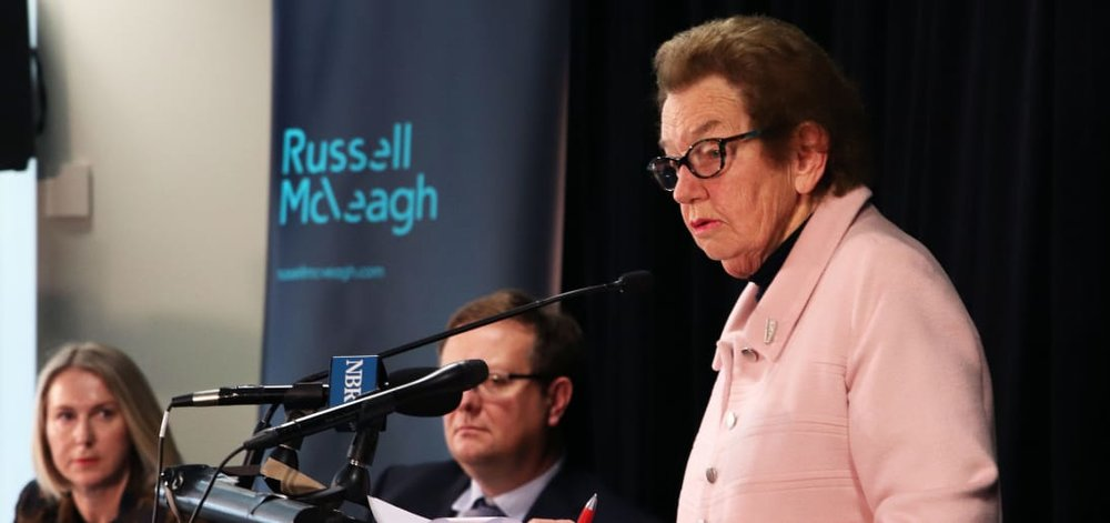 Dame Margaret Bazley presents the findings of her independent review in Wellington. Photo/Newsroom