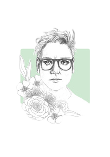 Hannah Gadsby / Illustration by Holly Tippler for Stored