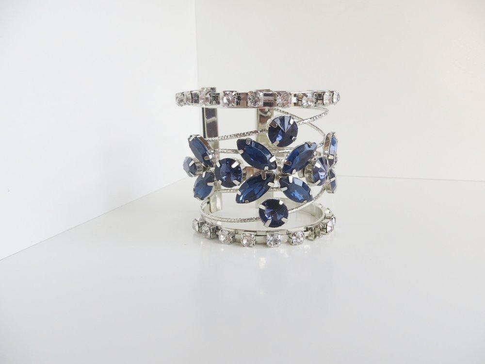 IMG_0616.JPGHOLYLOVE 3 Colour Cuff Bracelet Navy for Women, Adjustable Open Bangle | Mattea Henderson