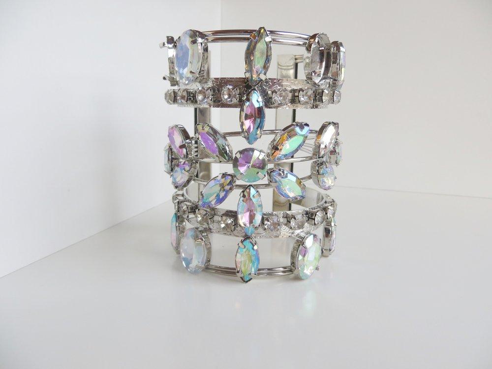 HOLYLOVE 2Colour Cuff Bracelet Sliver for Women, Adjustable Open Bangle | Mattea Henderson