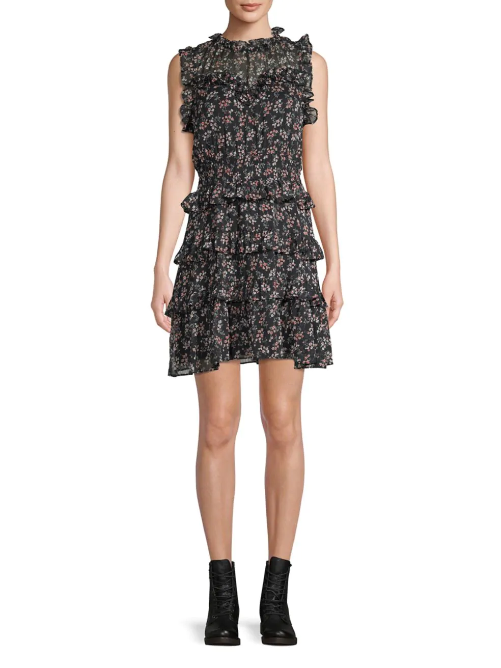 DESIGN LAB LORD & TAYLOR. Floral A-Line Dress.