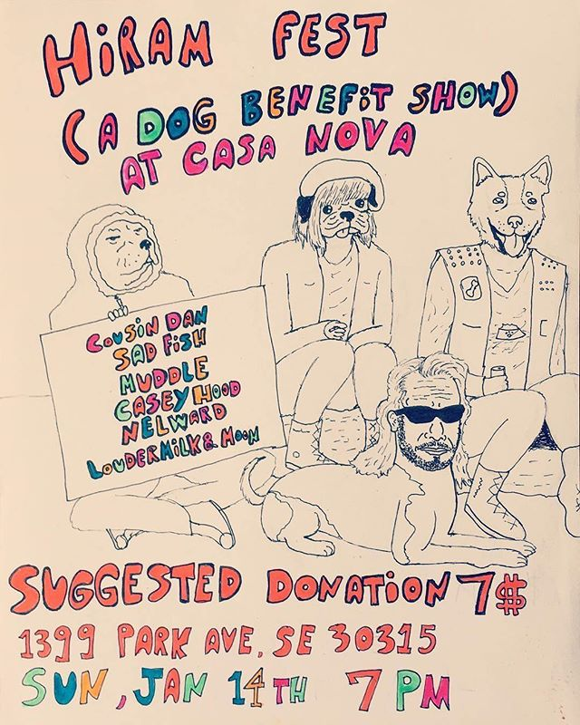 Next Sad Fish show is Sunday! This is a benefit show for our friend Lauren's dog. 6 acts, sandwiches, popcorn, warm fire and HOT toddies. What else could you want? #sadfish #cousindan #nelward #muddle #caseyhood #loudermilknmoon
