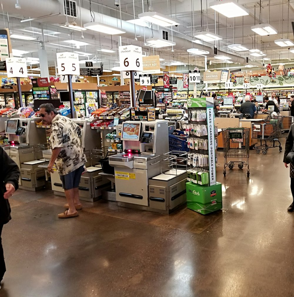 Inside my local Ralph's market on a recent Sunday morning. Photo by Lawrence Udell Fike, Jr.