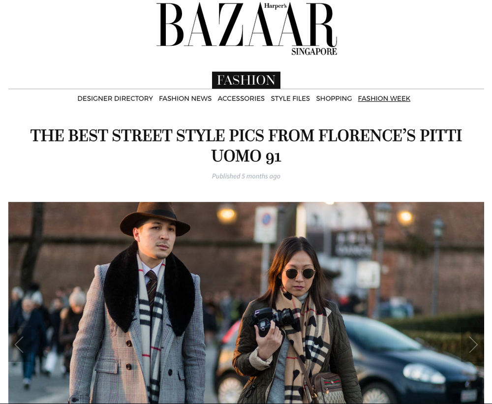 Harper Bazaar - Both co-founders photographed at Pitti Uomo in Florence, Italy