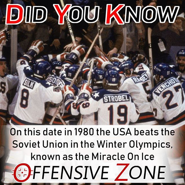 Did You Know? On this date in 1980 Team USA would beat the Soviet Union 4-3 in the Winter Olympics, going on to beat Finland in the final to secure the gold medal. Defeating the USSR became known as the Miracle On Ice.⠀ .⠀ .⠀ .⠀ .⠀ .⠀ .⠀ .⠀ .⠀ #Hockey #Hockeygram #Hockeylife #Hockeylove #USA #TeamUSA #Olympics #USSR #SovietUnion #Podcast