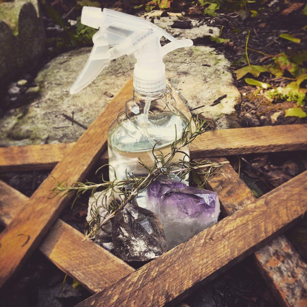 aura healing spray / krista-mitchell.com
