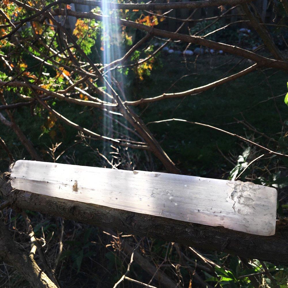 selenite stick light / krista-mitchell.com