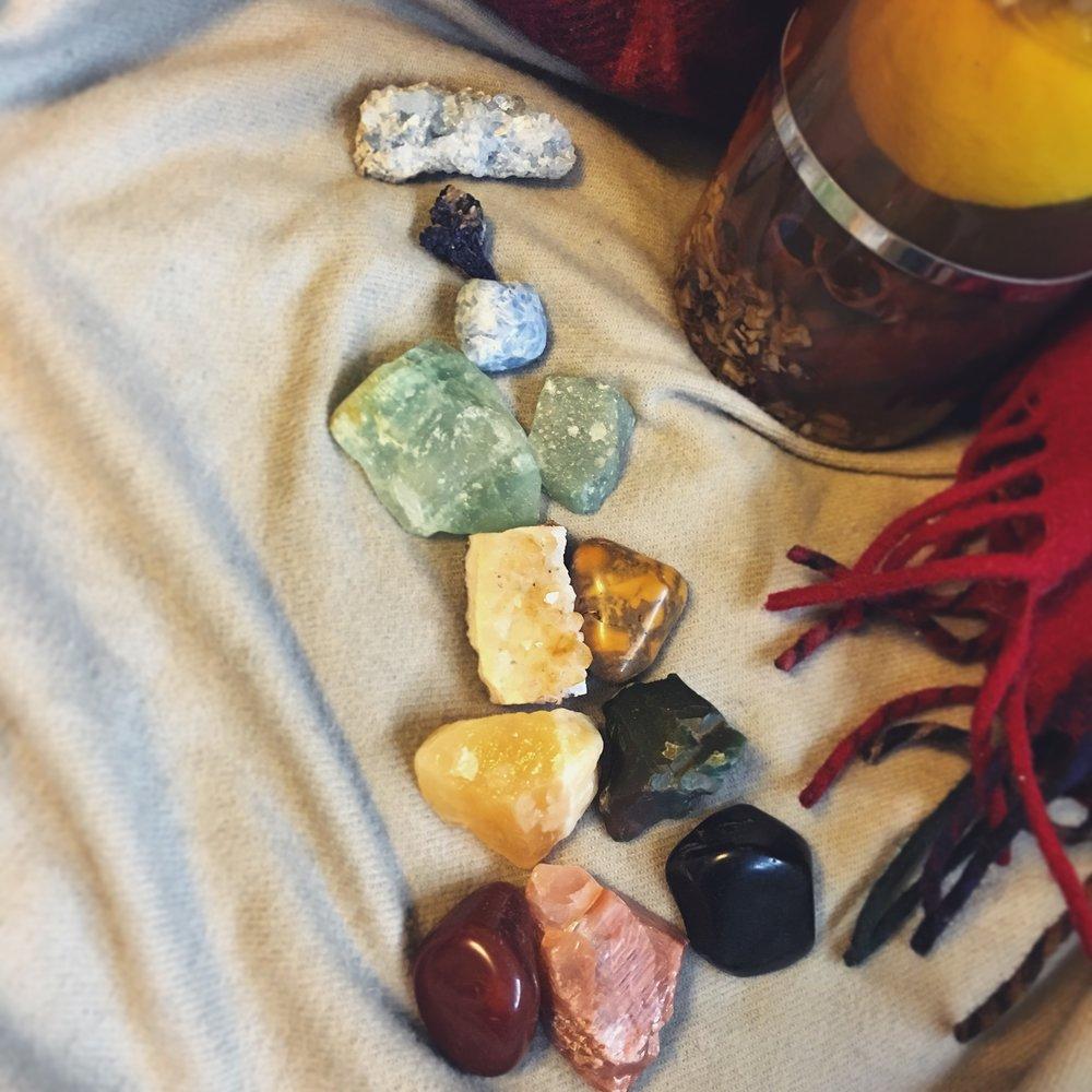 Springtime Sickies crystals / krista-mitchell.com