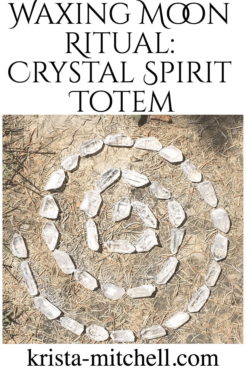 waxing moon crystal ritual / krista-mitchell.com